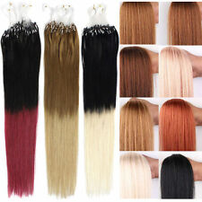 100s 0.5g/s Indian Micro Loop Ring Beads Remy Human Hair Extensions 50g