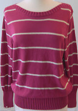 ~Sonoma~ Petite Fuchsia Striped Sweater Size PXL~NWT