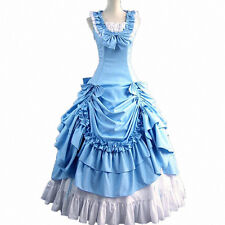 Victorian Prom Ball Gown Party Dress Southern Belle Reenactment Costumes Lolita