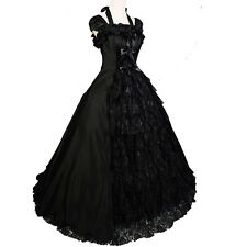 Victorian Gothic Halter Southern Belle Lolita Cosplay Ball Gown Solemn Dress