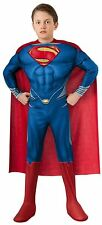 Deluxe Muscle Chest Superman Costume Child Boys Large Superhero Halloween