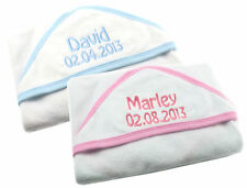 Personalised Embroidered Baby Hooded Towel Embroidered baby Christening Gift