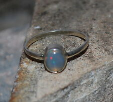 Natural Ethiopian Welo Fire Opal 925 Sterling Silver Natural Ring Jewelry