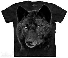 Black Wolf The Mountain Adult Size T-Shirt