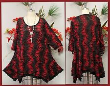 Designer, Plus size top, Lagenlook, boho, High end fabric Tunic top.