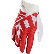 2016 FOX RACING MENS ADULT MX ATV RIDING RED WHITE SHIV AIRLINE RACE GLOVES