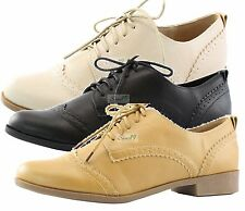 Comfortable Casual Sneaker Stylish Lace Up Flat Oxford Dress Shoes for Women