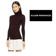 NWT Club Monaco Bordeaux Julie Turtle Sweat Top Ladies Women *MSRP $89.5*