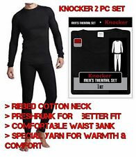 Knocker 2 PC Thermal Underwear Set M L Top Bottom Long John Waffle Pants Shirt