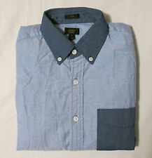 NWT J.Crew Slim Vintage Oxford Shirt With Contrast Trim In Blue SZ's XS,S,M,L,XL