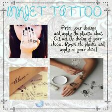 Tattoo Paper Inkjet Make Your Own Removable Tattoo :)