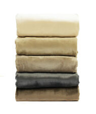 NEW Flannel Coral Fleece DOUBLE QUEEN KING Bed Size Blanket 300gsm Soft Warm