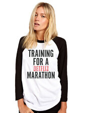 Training for a Netflix Marathon Tv Show Chill Womens Baseball Top Many Sizes
