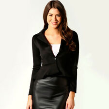 Sexy Womens Color Blazer Jacket Suit Work Casual Basic Long Sleeve Candy Button