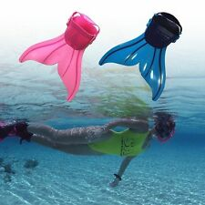 Adjustable Kids Mermaid Mono tails Fin Flippers swimming toy Diving Snorkeling