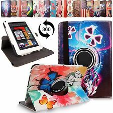 For Amazon Kindle Fire 7 Inch 360 Rotating Folding Flip Leather Stand Case Cover