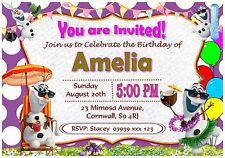 Personalised Frozen Olaf Birthday Invitations Party Invites With Envelopes - I39