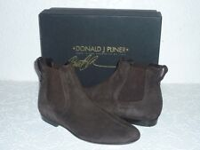 Donald J Pliner Derry Model Flat Low Boots Suede Brown Booties Size 6 BNIB