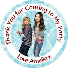 Personalised iCarly 37mm Birthday Stickers Party Thank You Seals - L750