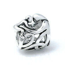 Sterling Silver Mother Baby Hug Love Filigree Bead For European Charm Bracelets
