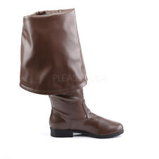 Brown Pirate Captain Jack Sparrow Barbossa Halloween Costume Mens Boots 11 12 13