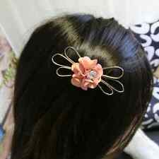 New Charm Women Girls Crystal Rhinestone Bow Hairpin Hairband Accessory