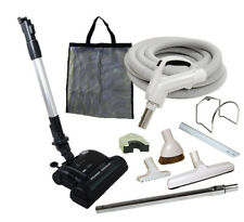 30' or 35' Deluxe Central Vacuum Kit w/Hose, Power Head & Tools For Electrolux