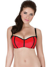 Parfait by Affinitas Charlotte Red and Black Balconette Bra 6931