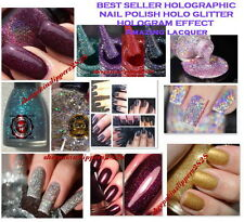 BEST SELLER HOLOGRAPHIC NAIL POLISH HOLO GLITTER HOLOGRAM EFFECT Amazing lacquer