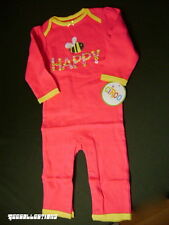 CiRCO HAPPY Infant Baby Girl's Bumble Bee Floral Pink Bodysuit Sizes 3M & 9M NWT