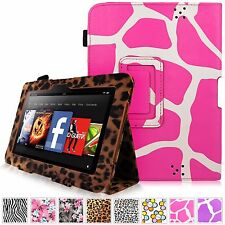 For Amazon Kindle Fire HD 7 Inch 2012 Luxury Pu Leather Folio Stand Case Cover