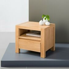 Anya 1 Drawer Timber Bedside Table - Solid Oak Wood - 40x50x45cm