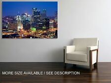 Canvas Print  Picture Pittsburgh Skyline Night / Stretched -ready to hang