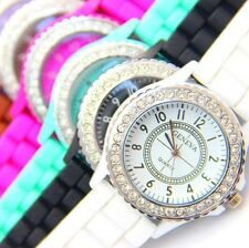 Hot Silicone GENEVA Watch Women Rhinestone Watches Fashion Casual Quartz Watches
