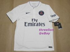 BNWT Nike 2014/15 PARIS ST GERMAIN PSG Away White Soccer Jersey Football Shirt