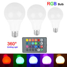 Cheap 3W 5W E27 AC85-265V RGB LED Light Bulb Lamp Color Changing+IR Remote