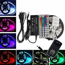 5M 3528 5050 RGB 300 SMD Flexible LED Strip Light +24key IR Remote+Power Supply
