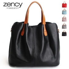 2016 Casual Women Handbag Genuine Leather Ladies Shoulder Tote Shopper Bag Purse