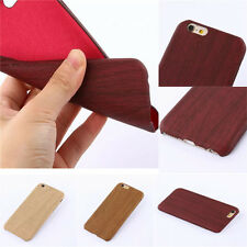 Handmade Natural Wood Bamboo Wooden Hard Case Cover For Apple iPhone & Samsung