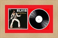 """Picture Photo Frame Single 12"""" Vinyl LP Record with Album Cover   Red Mount"""