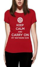 Keep Calm and Carry On My Wayward Son Women T-Shirt Supernatural