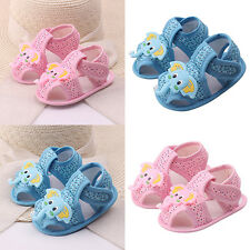 Baby Girl Boy Glitzy Cartoon Elephant Pattern Soft Sole Shoes Toddler Sandals