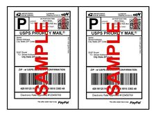 Self Adhesive white Paypal Mailing Shipping Labels Stickers  UPS USPS FEDEX