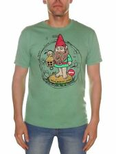Almost Mangin With My Gnomes T-shirt Men M Green BNWT Skate Surf