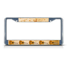 GUITAR MUSICAL INSTRUMENT STYLE 2 Metal License Plate Frame Tag Border Two Holes
