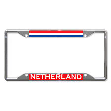 NETHERLAND FLAG COUNTRY Metal License Plate Frame Tag Holder Four Holes