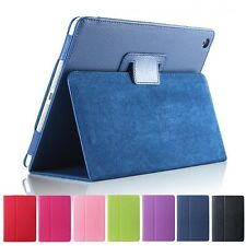 Matte Litchi Surface Flip PU Leather Case for Apple Ipad Mini 1 2 3, 11 Colors