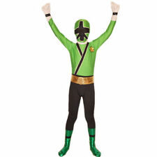 Green Boys Power Rangers costume kid Samurai Fancy Dress child Morphsuit Cosplay