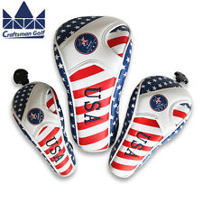 Craftsman Golf Rescue Head Cover Driver Wood Headcover Artifical Leather US Flag