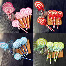 6pcs  Lollipop Cake Cupcake Topper Shower Party Picks Birthday Cake Decoration